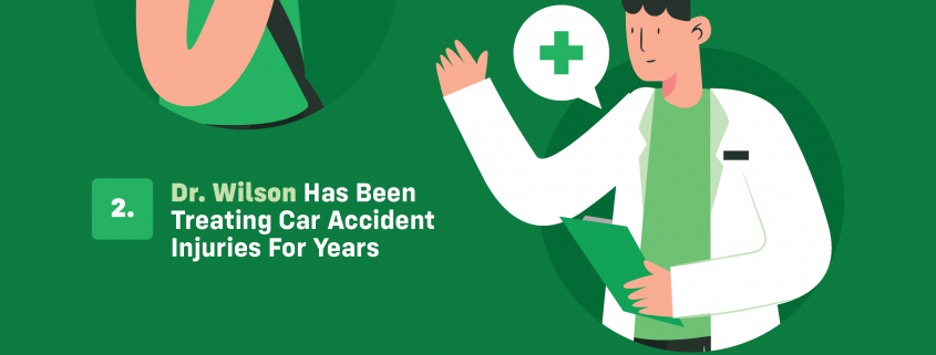 Infographic about 10 reasons to see a chiropractor after a car accident